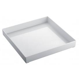 Bandeja Plastico Tray Branco 30x30cm (1 Unidades)