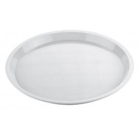 Bandeja Plastico Tray Branco Ø32cm (5 Unidades)