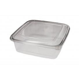 Embalagem Plastico Quadrado Tampa Bisagra PET 1500ml (200 Uds)