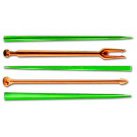 Pick de Plastico Snack Stick Multicolorido 90 mm (6600 Unidades)