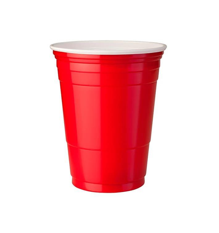 Copo Rígido de PS 12 Oz/360 ml Vermelho (50 Unidades)