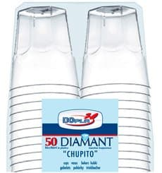 "Copo Plastico Shot ""Diamant"" PS Transp. Cristal 50ml (600 Uds)"