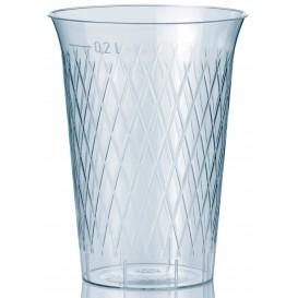 Copo Plastico Cristal Transparente PS 200ml (50 Uds)