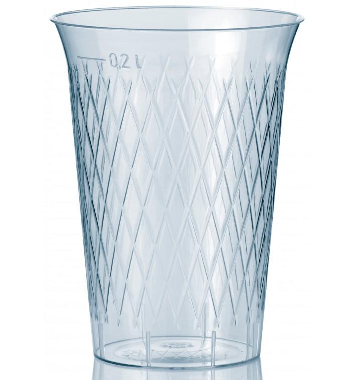 Copo Plastico Cristal Transparente PS 200ml (1000 Uds)