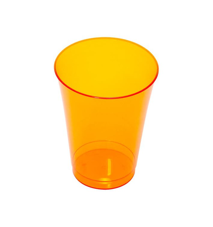 Copo de Plastico PS Laranja 230ml (10 Uds)