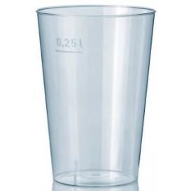 Copo Plastico Cristal Transparente PS 250ml (50 Uds)