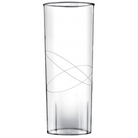 Copo Plastico Moon Cristal Transparente PS 300ml (10 Uds)