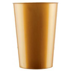 Copo Plastico Cristal Moon Ouro PS 230ml (350 Uds)