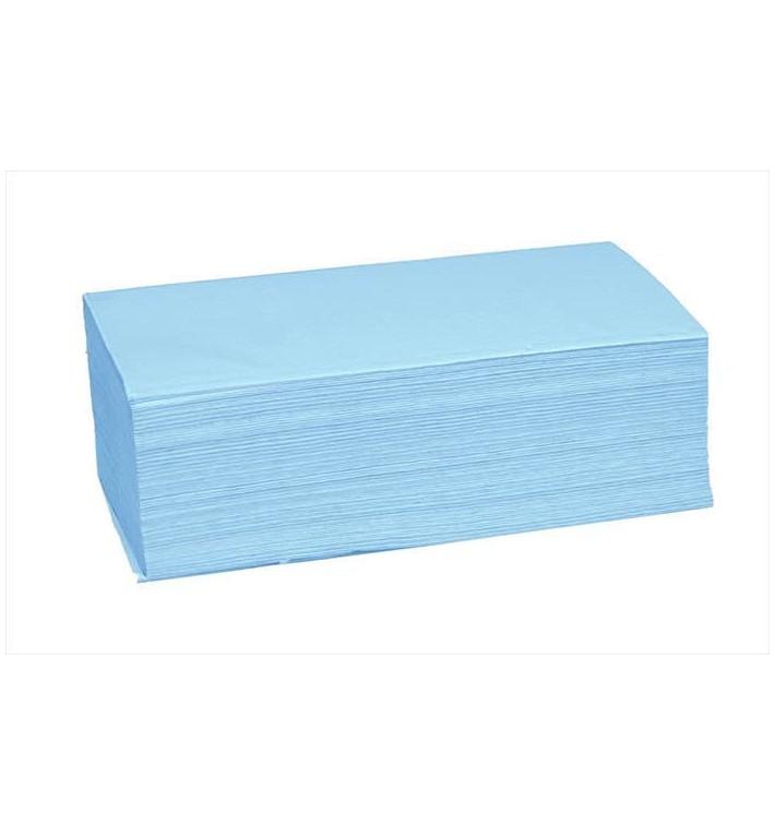 Toalha de Papel Seca Mãos Azul 1 Folha Z (190 Uds)