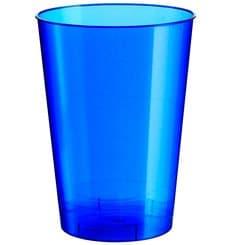Copo Plastico Moon Cristal Azul Pearl PS 230ml (1000 Uds)