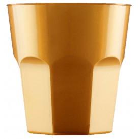 Copo Plastico Ouro PS Ø73mm 220ml (50 Uds)