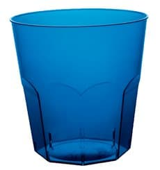 Copo Plastico Azul Transp. PS  Ø73mm 220ml (50 Uds)
