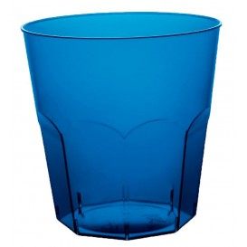 Copo Plastico Azul Transp. PS  Ø73mm 220ml (1000 Uds)