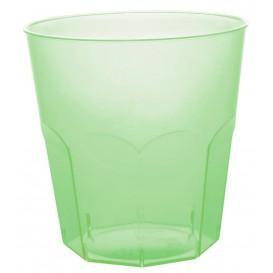 Copo Plastico Verde Limão Transp. PS  Ø73mm 220ml (50 Uds)