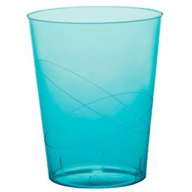 Copo Plastico Moon Cristal Turquesa Transp. PS 350ml (20 Uds)