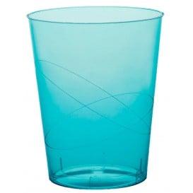 Copo Plastico Moon Cristal Turquesa Transp. PS 350ml (400 Uds)
