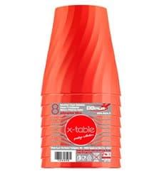 "Copo de Plastico PP ""X-Table"" Laranja 320ml (8 Unidades)"