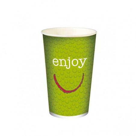 """Copo Cartão Bebidas Frias 12 Oz/360ml """"Enjoy"""" Ø8,0cm (100 Uds)"""