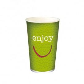 """Copo Cartão Bebidas Frias 12 Oz/360ml """"Enjoy"""" Ø8,0cm (2.000 Uds)"""