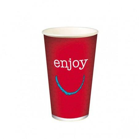 """Copo Cartão Bebidas Frias 32 Oz/1000ml """"Enjoy"""" Ø11,2cm (500 Uds)"""