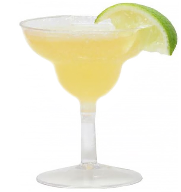 Copo MARTINI o COCKTAIL Plástico Verde Transp.70ml 2P (12 Uds)