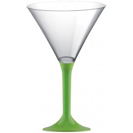 Copo PS Flute Cocktail Verde Limão 185ml 2P (200 Uds)