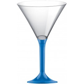 Copo PS Flute Cocktail Azul Transp. 185ml 2P (20 Uds)