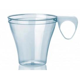 Chavena Plastico Café Curto 80ml Transparente (40 Uds)