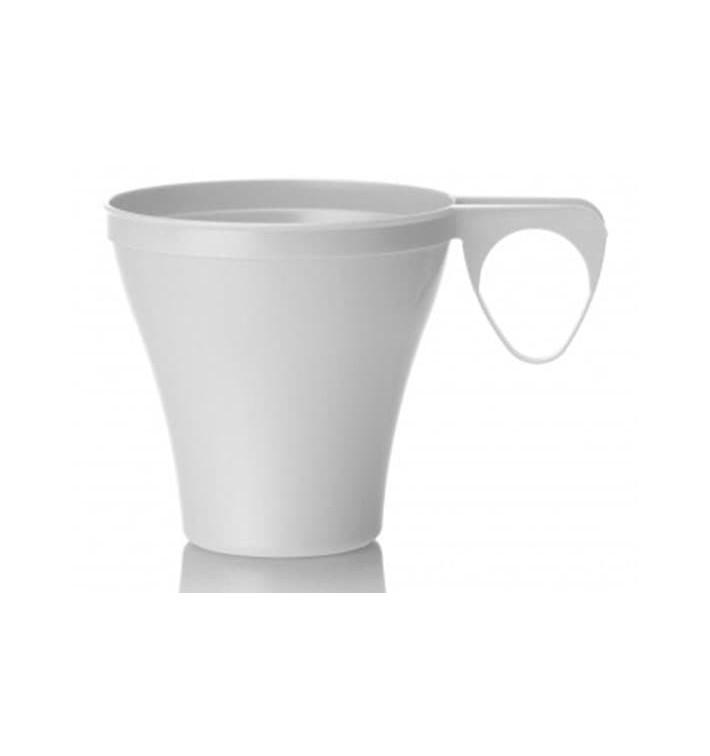 Chavena Plastico Café Curto 80ml Branco (40 Uds)