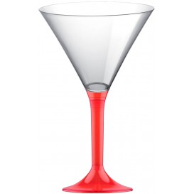 Copo PS Flute Cocktail Red Transp. 185ml (200 Uds)
