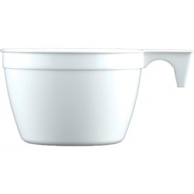 Chavena Plastico Cup Branco PP 90ml (50 Uds)