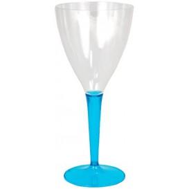 Copo Plastico Vinho Pé Trurquesa 130 ml (60 Unidades)