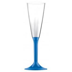 Copo PS Flute Champanhe Azul Transp. 160ml 2P (20 Uds)