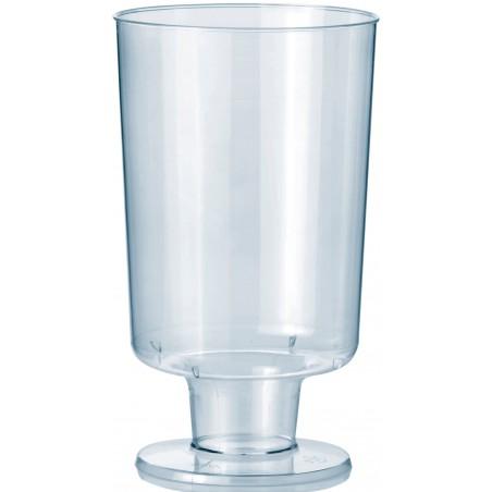 Copo Plastico Vinho com Pé PS 150ml (12 Unidades)
