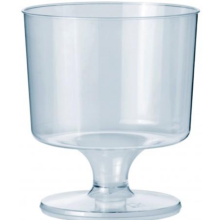 Copo Plastico Vinho com Pé PS 170 ml (10 Unidades)