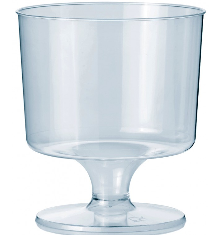 Copo Plastico Vinho com Pé PS 170 ml 1P (540 Uds)