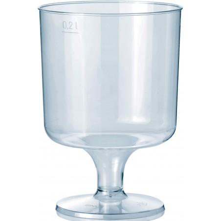 Copo Plastico Vinho com Pé PS 200ml (10 Unidades)