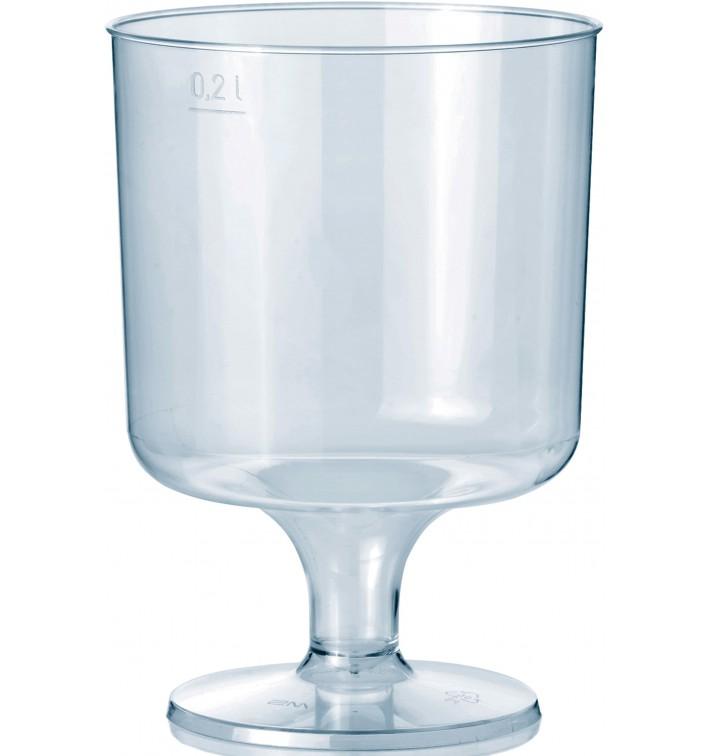 Copo Plastico Vinho com Pé PS 200ml 1P (400 Uds)