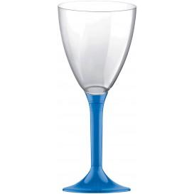 Copo PS Flute Vinho Azul Transp. 180ml 2P (20 Uds)