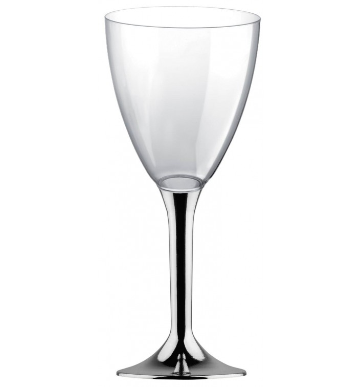 Copo PS Flute Vinho Prata Cromo 180ml 2P (20 Uds)