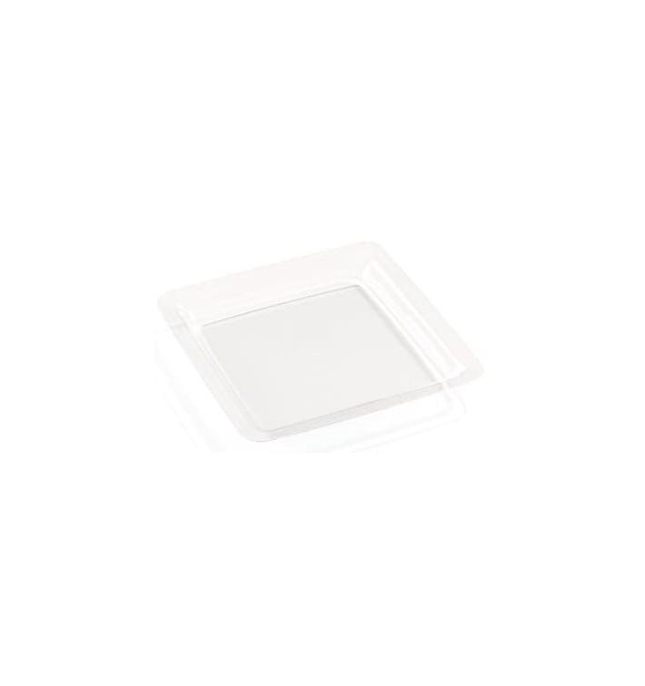 Prato Rigido Transparente 18x18cm (200 Uds)