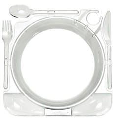 Prato Plástico Caterplate Transparente (48 Uds)