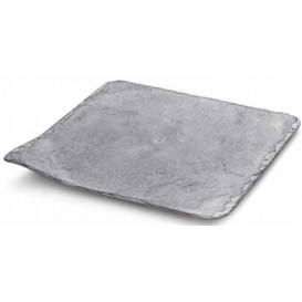 Prato de Plastico em Ardósia 20x20cm (100 Unidades)