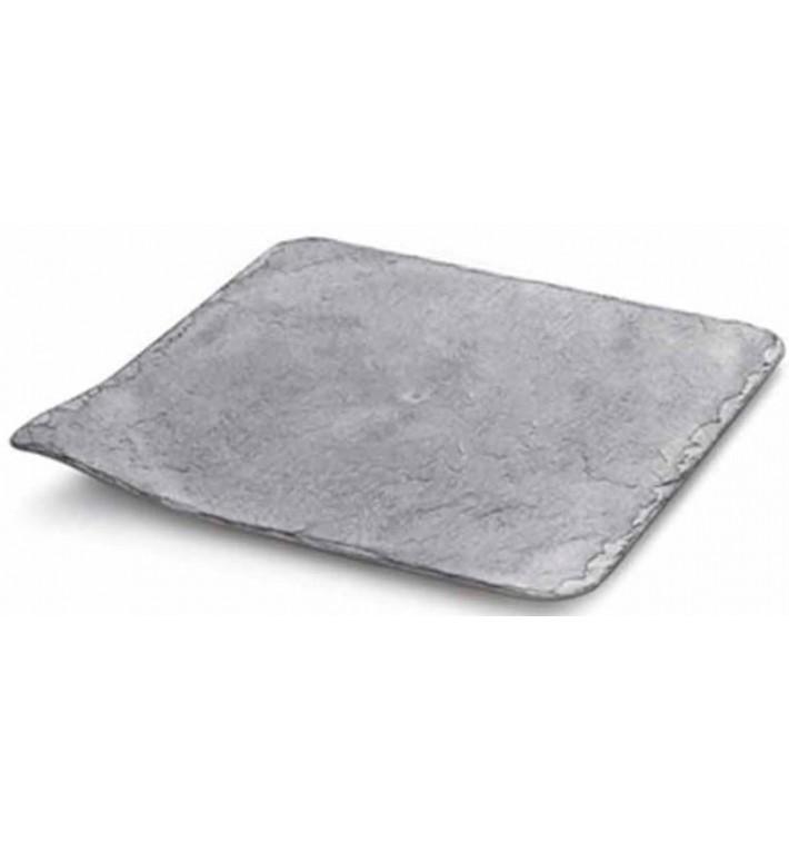 Prato de Plastico em Ardósia 20x20cm (10 Unidades)