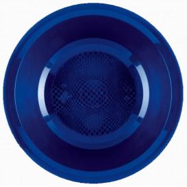 Prato de Plastico Fundo Azul Round PP Ø195mm (50 Uds)