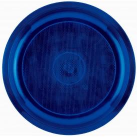Prato de Plastico Azul Round PP Ø290mm (25 Uds)