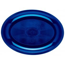 Bandeja de Plastico Oval Azul Round PP 315x220mm (25 Uds)