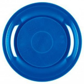 Prato Plastico Azul Mediterraneo Round PP Ø185mm (50 Uds)
