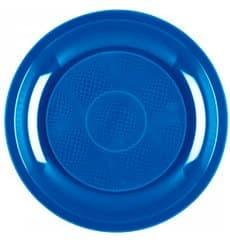 Prato Plastico Raso Azul Mediterraneo Round PP Ø220mm (600 Uds)