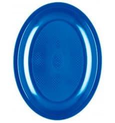 Bandeja de Plastico Oval Azul Mediterraneo Round PP 255mm (50 Uds)